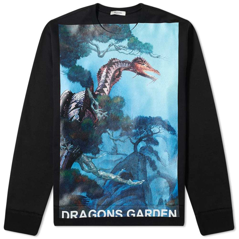 Photo: Valentino x Roger Dean Tonal Dragon Garden Crew Sweat