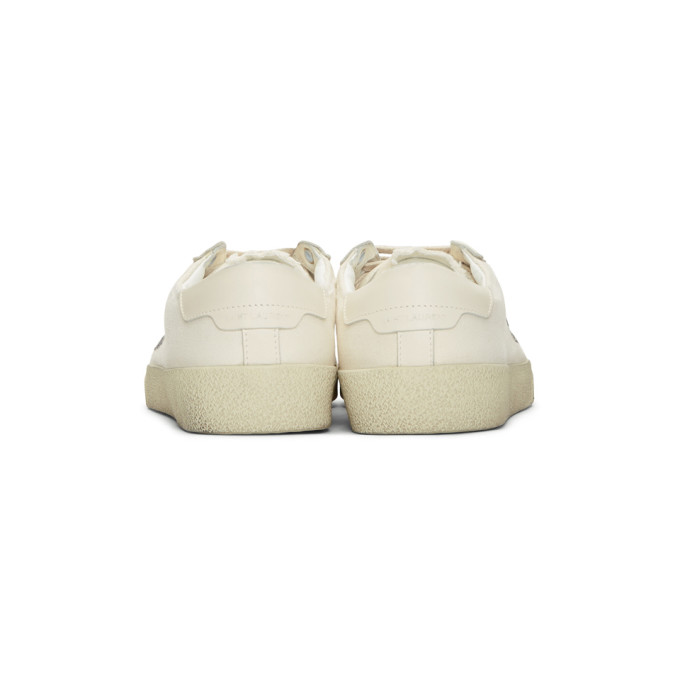 Cheap Sale Sale White Damaged Canvas Court Classic SL06 Sneakers Saint Laurent Free Shipping Big Discount Excellent Cheap Sale Many Kinds Of Xspuc8t