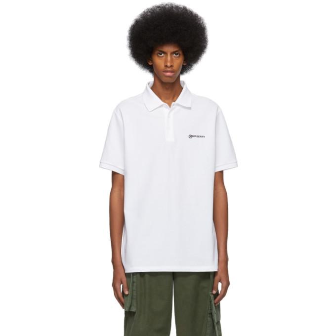 Photo: Burberry White Logo Oversized Polo