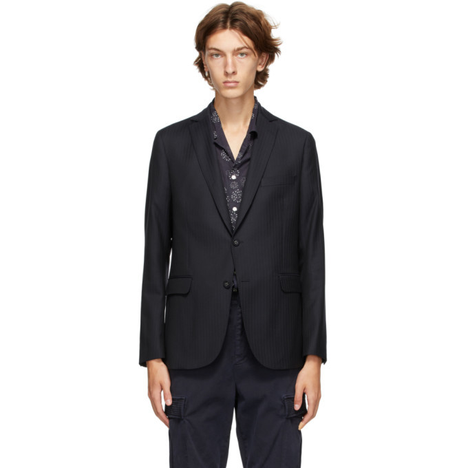 Photo: Officine Generale Navy Wool Blazer