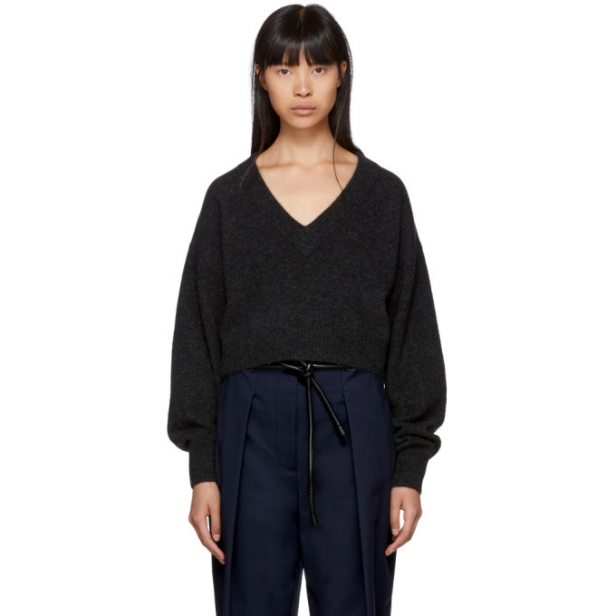 3.1 Phillip Lim Grey Lofty V-Neck Sweater