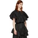 3.1 Phillip Lim Black Flamenco Short Blouse
