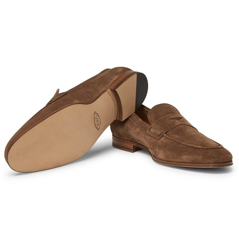 Tod's - Suede Penny Loafers - Men - Brown