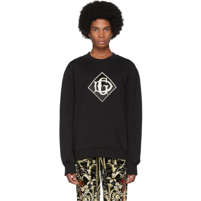Photo: Dolce and Gabbana Black Logo Sweatshirt