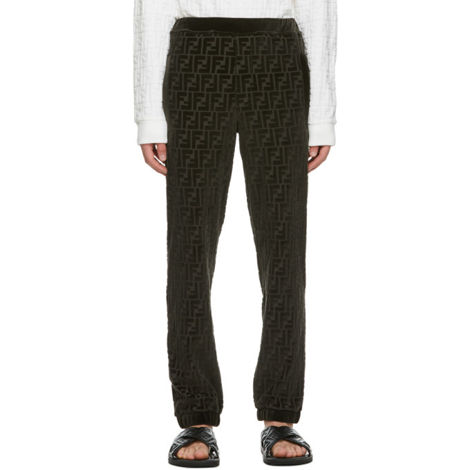 Photo: Fendi Green Forever Fendi Embossed Lounge Pants