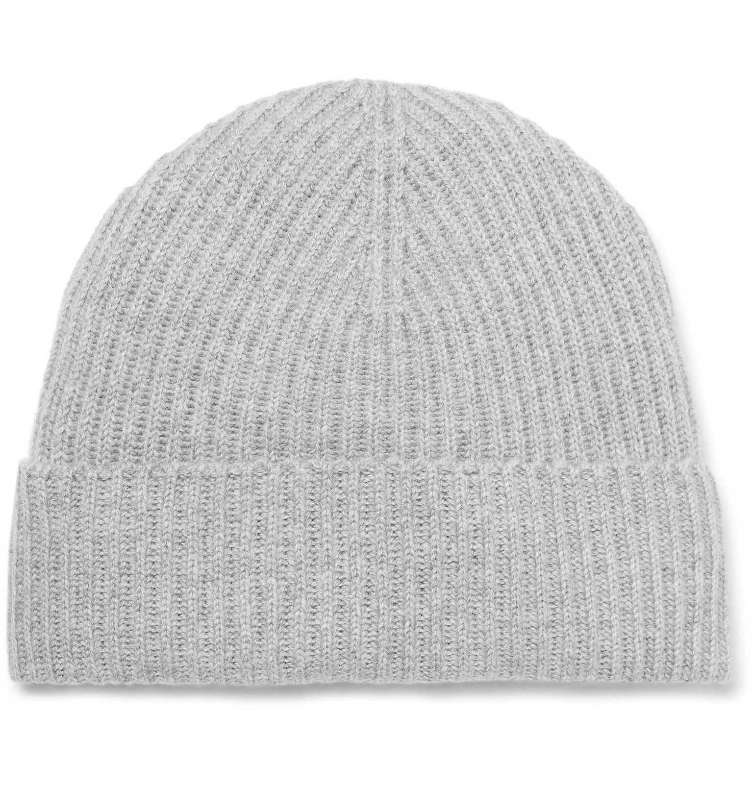 Photo: Johnstons of Elgin - Ribbed Mélange Cashmere Beanie - Silver