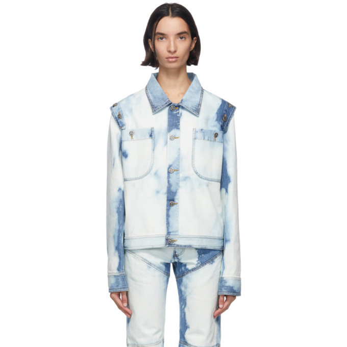 Photo: Telfar Blue Bleach Denim Detachable Jacket