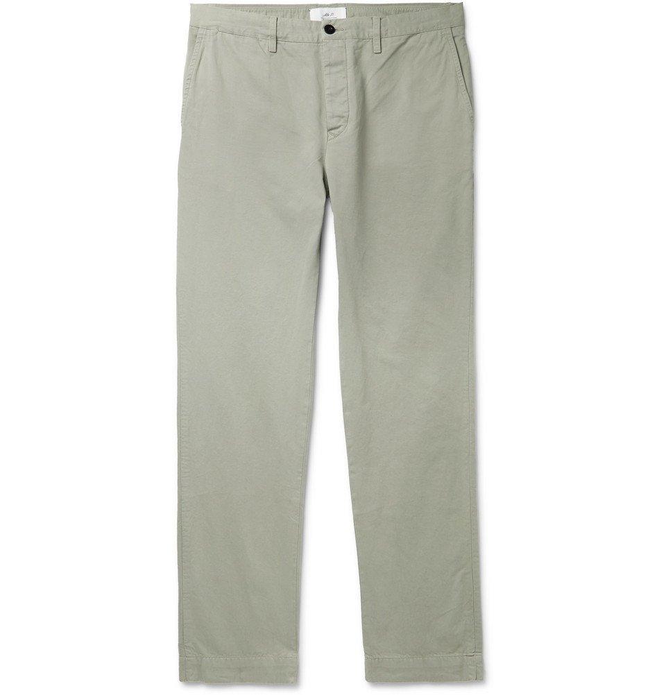 Photo: Mr P. - Grey Garment-Dyed Cotton-Twill Chinos - Gray