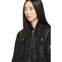 Sacai Black Embroidered Lace Bomber Jacket