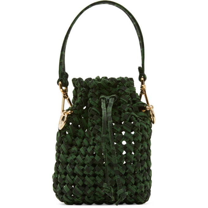 Photo: Fendi Green and Brown Mini Braided Mon Tresor Bag
