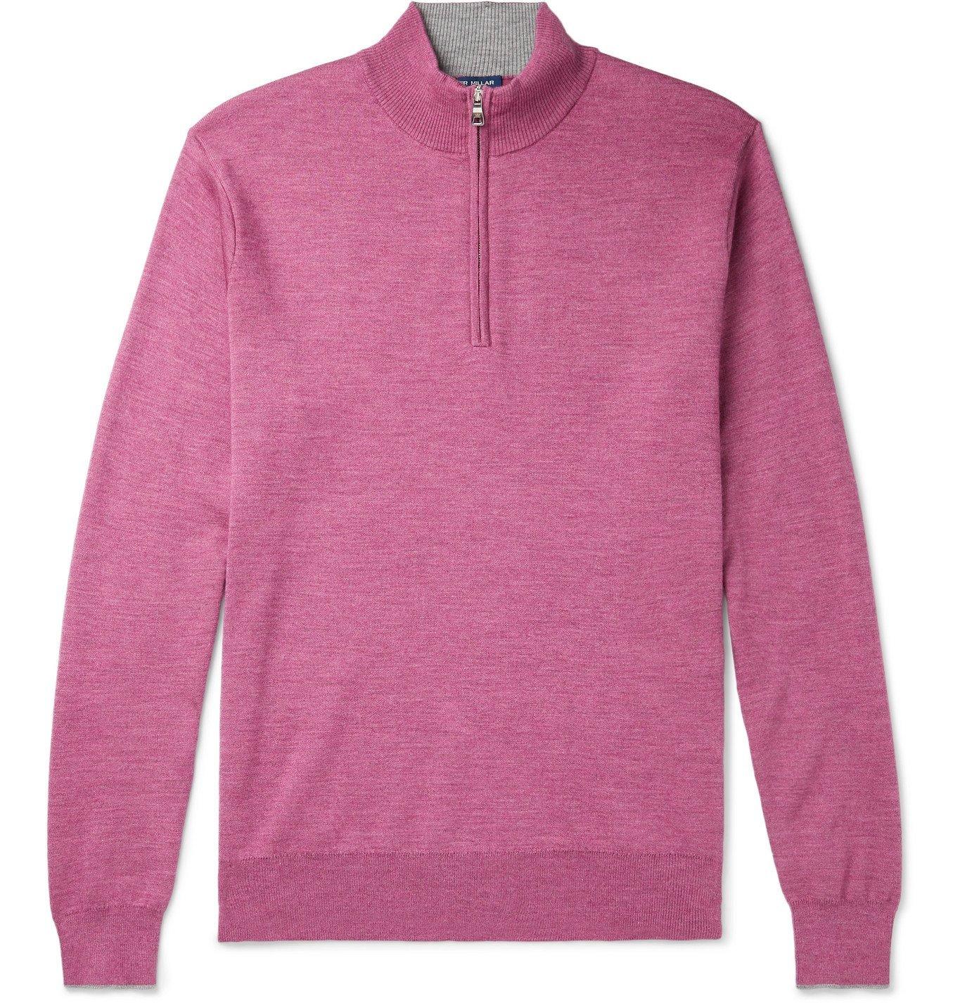 Photo: Peter Millar - Knitted Half-Zip Sweater - Pink