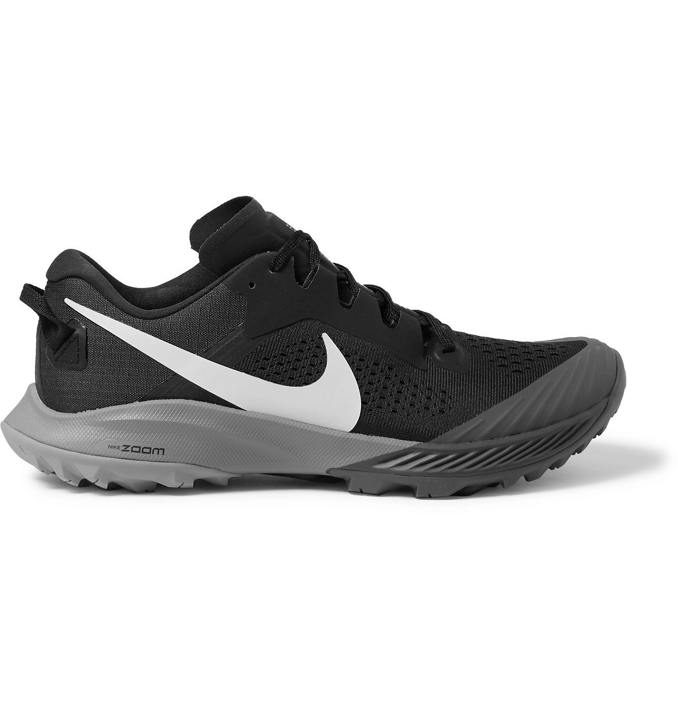Nike Running - Air Zoom Terra Kiger 6 Rubber-Trimmed Mesh Trail Running Sneakers - Black