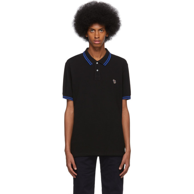 Photo: PS by Paul Smith Black and Blue Zebra Polo