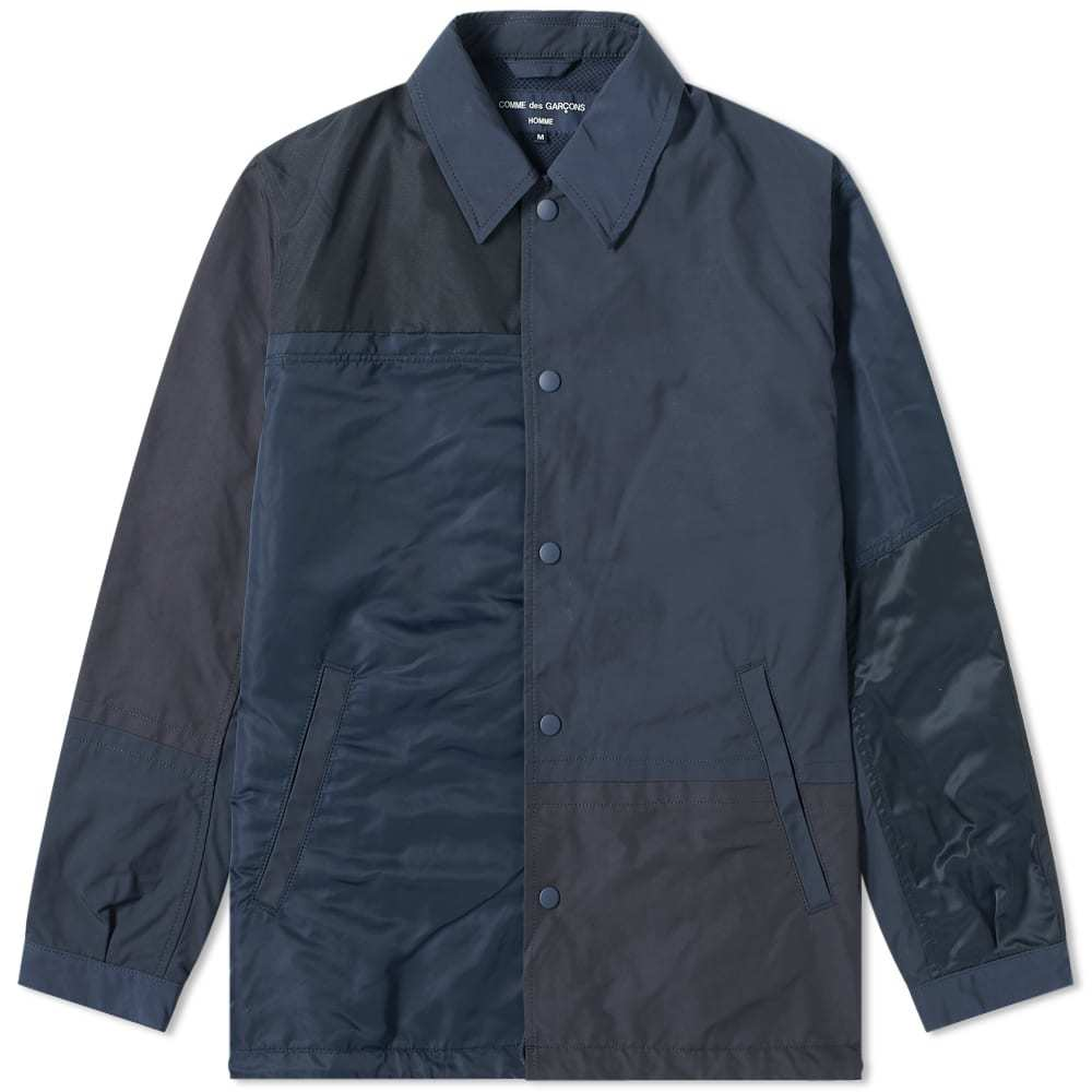 Photo: Comme des Garcons Homme Nylon Panel Coach Jacket