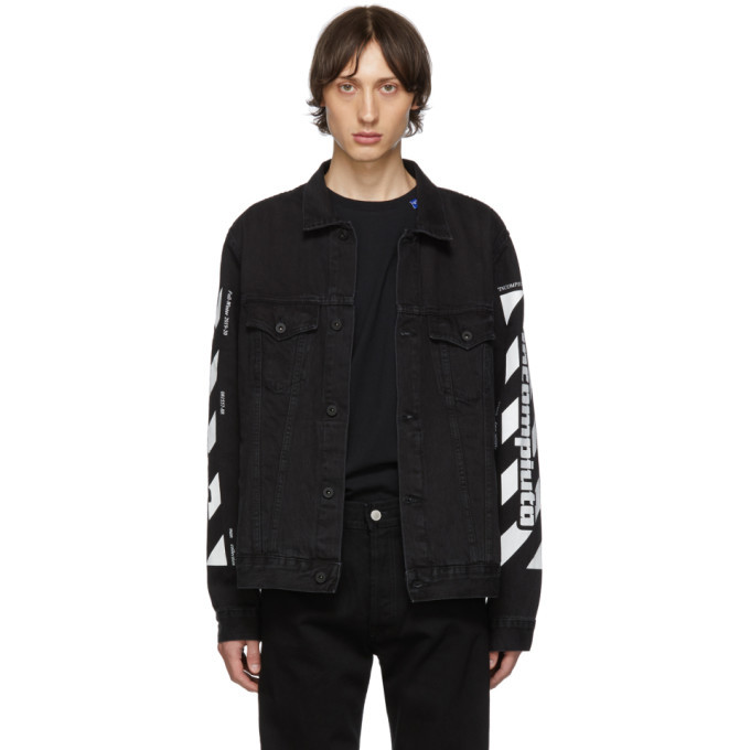 Photo: Off-White SSENSE Exclusive Black Denim Incomplete Jacket