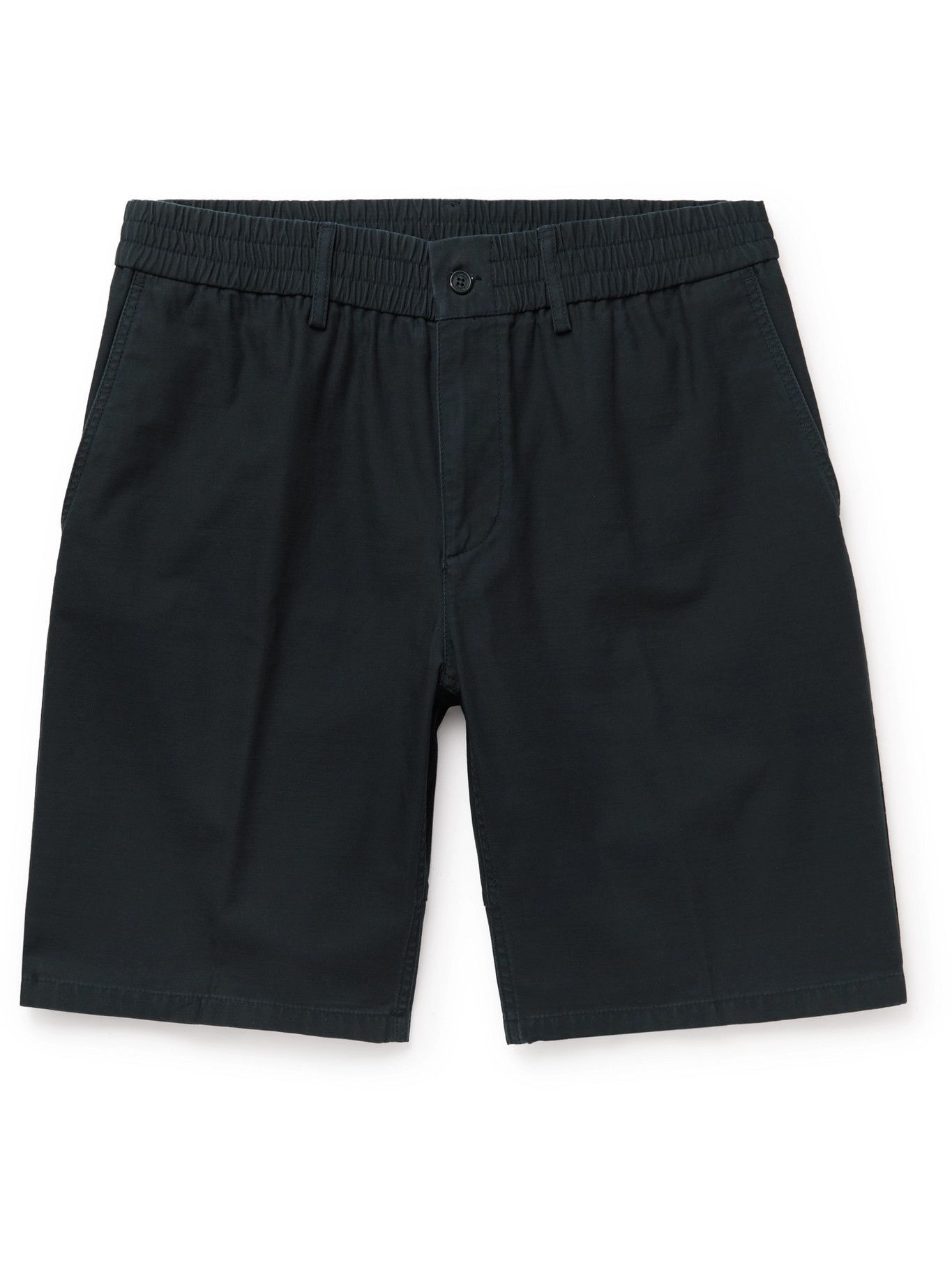 DUNHILL - Utility Washed-Cotton Shorts - Blue