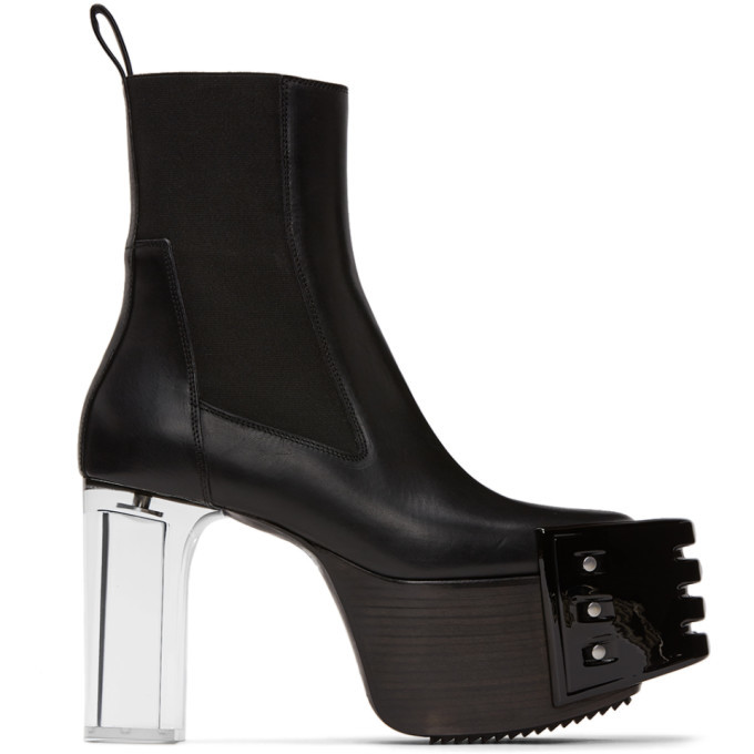 Photo: Rick Owens Black Grill Kiss Chelsea Boots