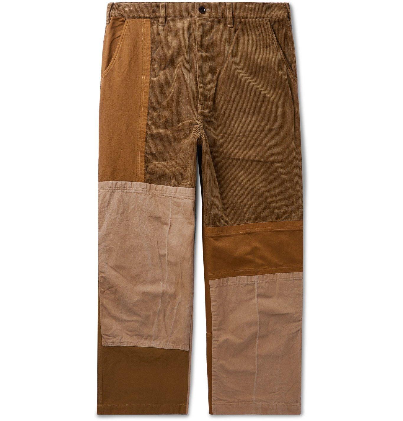Photo: Comme des Garçons HOMME - Patchwork Cotton-Blend Corduroy and Gabardine Trousers - Neutrals