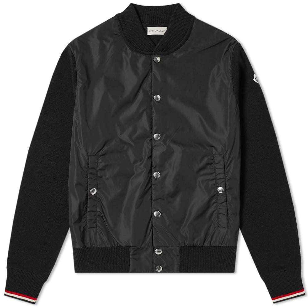 Photo: Moncler Maglione Nylon Wool Bomber Jacket