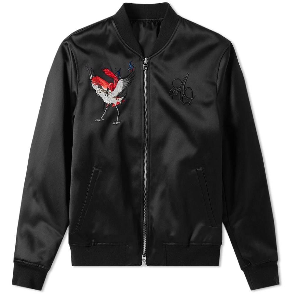 Photo: Alexander McQueen Satin Embroidered Bomber Jacket