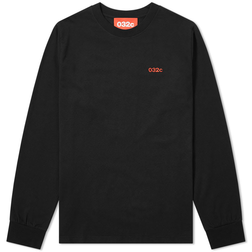 Photo: 032c Long Sleeve Classic Embroidered Logo Tee