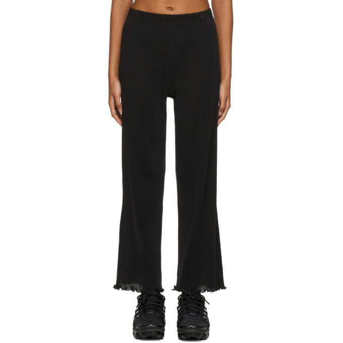 Photo: PRISCAVera Black Seamless Pleated Lounge Pants