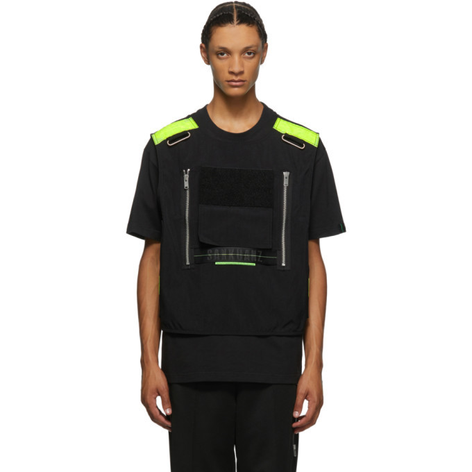 Photo: Sankuanz Black Vest T-Shirt