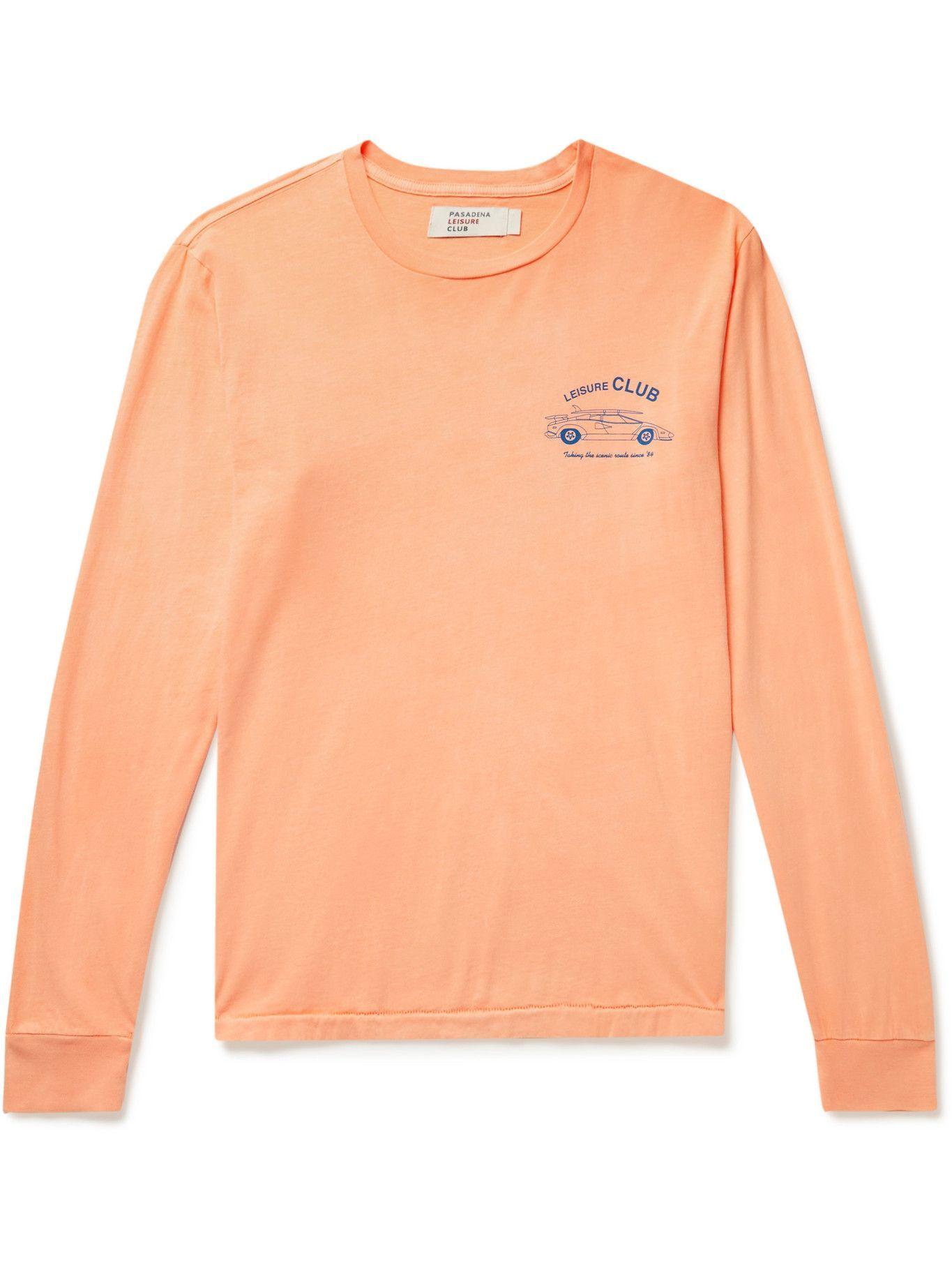 Photo: Pasadena Leisure Club - Scenic Route Cotton-Jersey T-Shirt - Orange