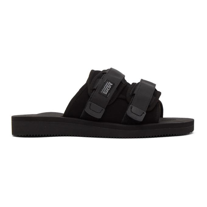 Photo: Suicoke Black Moto-Mab Lined Sandals