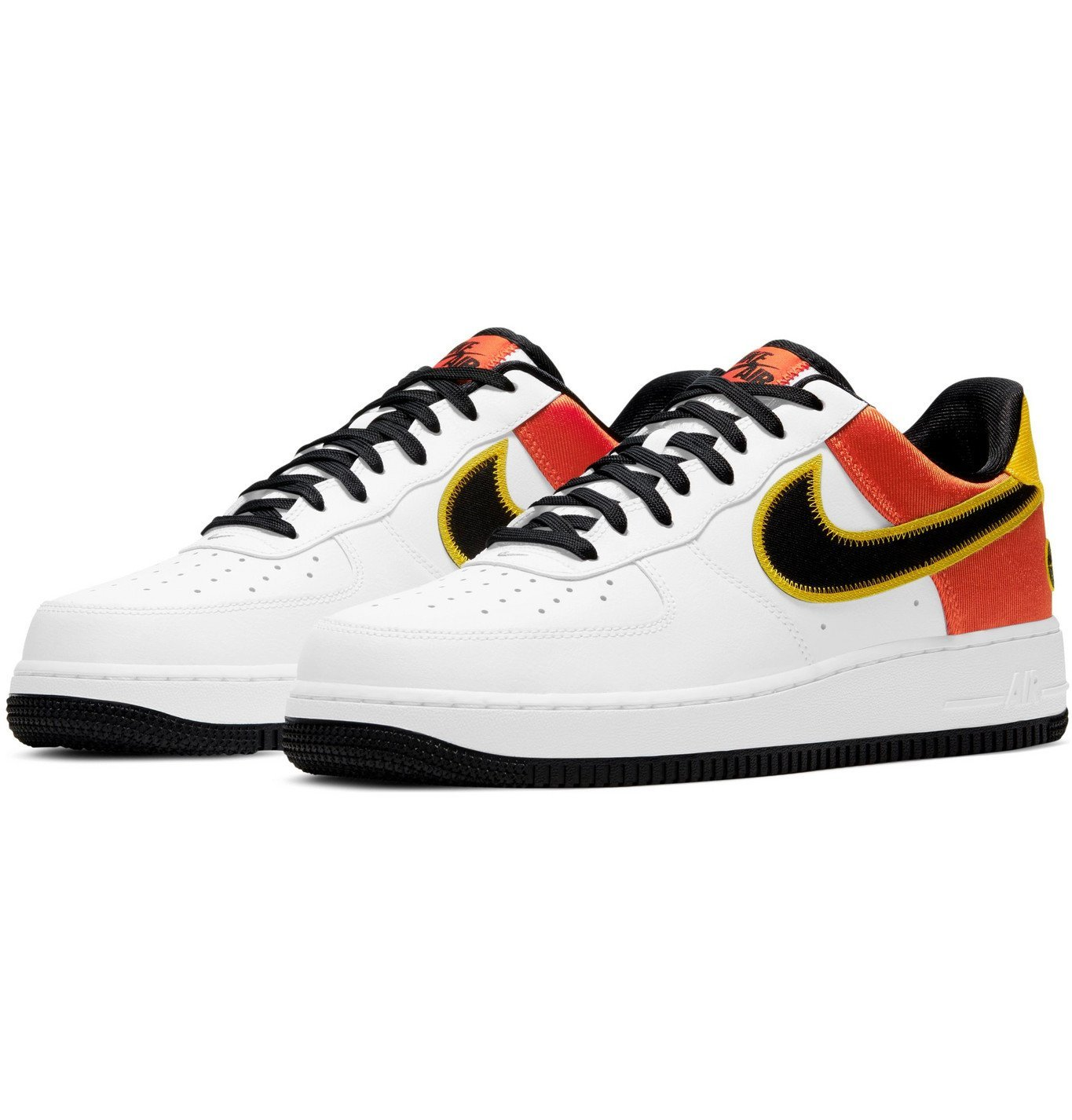 Photo: NIKE - Air Force 1 07 LV8 Rayguns Satin-Trimmed Leather Sneakers - White