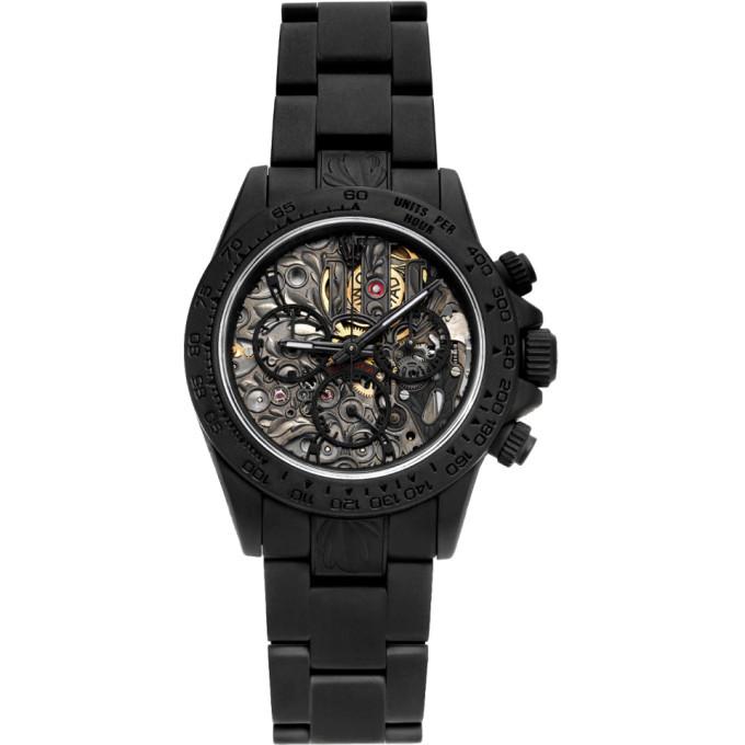 Photo: MAD Paris Black Customized Rolex Daytona SK II Watch