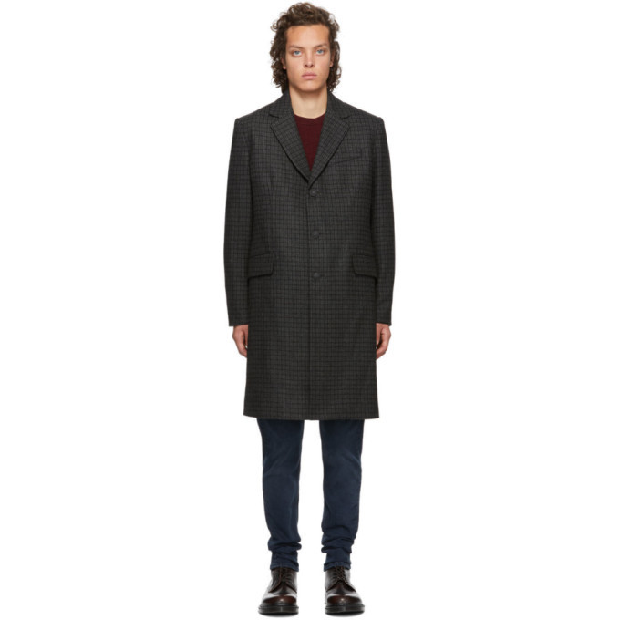Photo: rag and bone Green and Grey Wool Rory Coat
