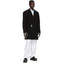 Raf Simons Black Short Double-Breasted Coat