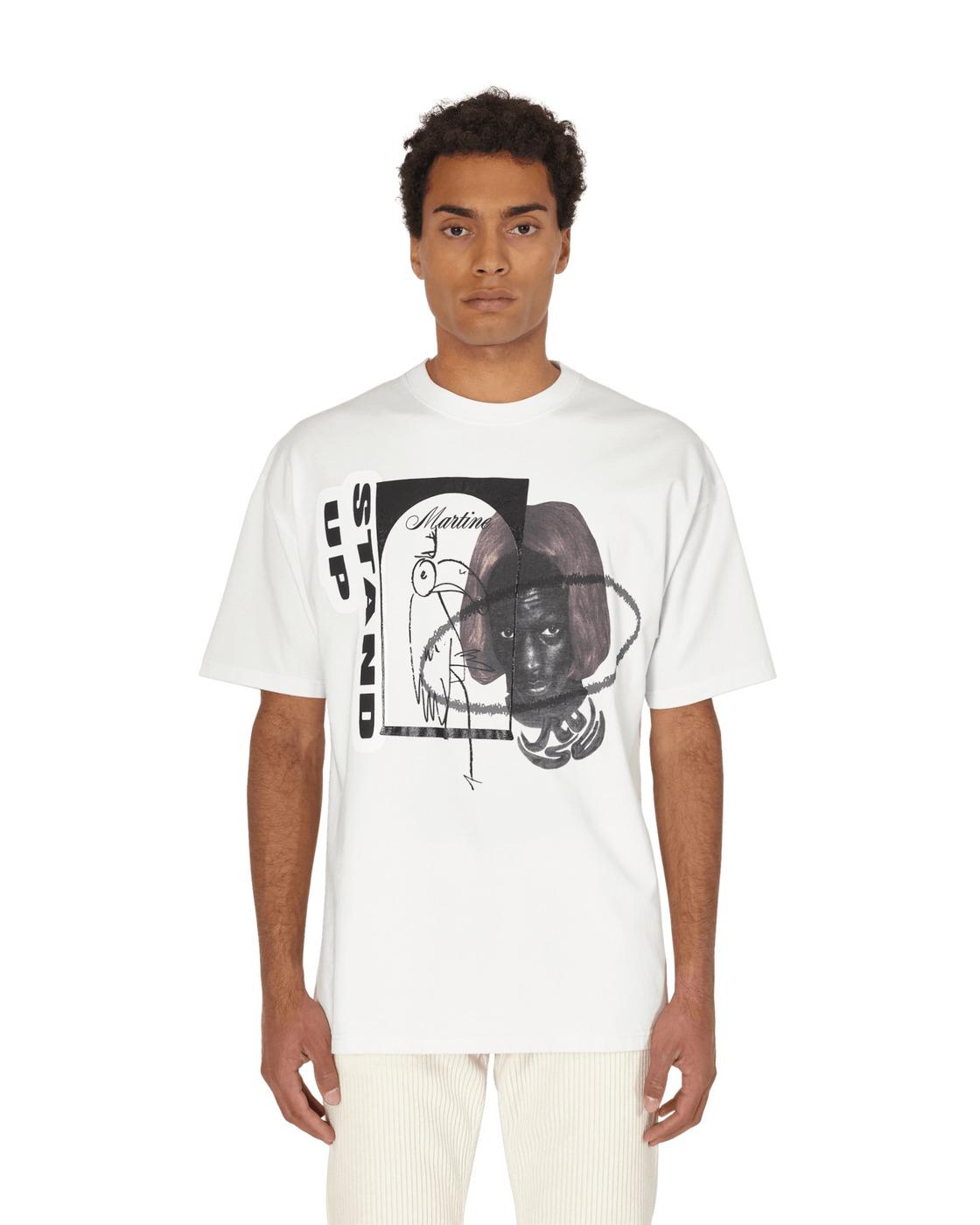 Photo: Martine Rose Oversized Stand Up T Shirt White