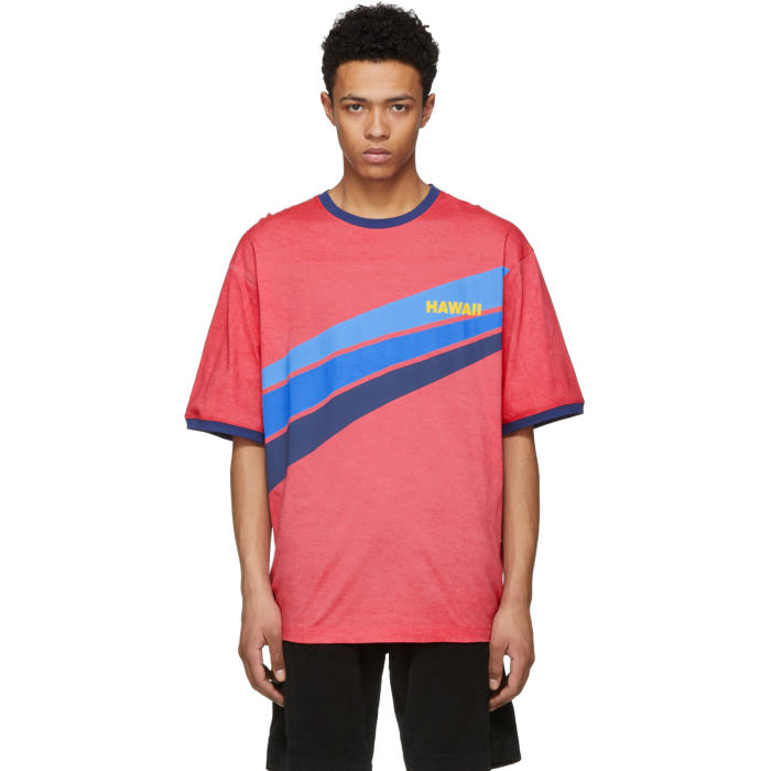 Photo: Dsquared2 Red Hawaii Super Over It T-Shirt