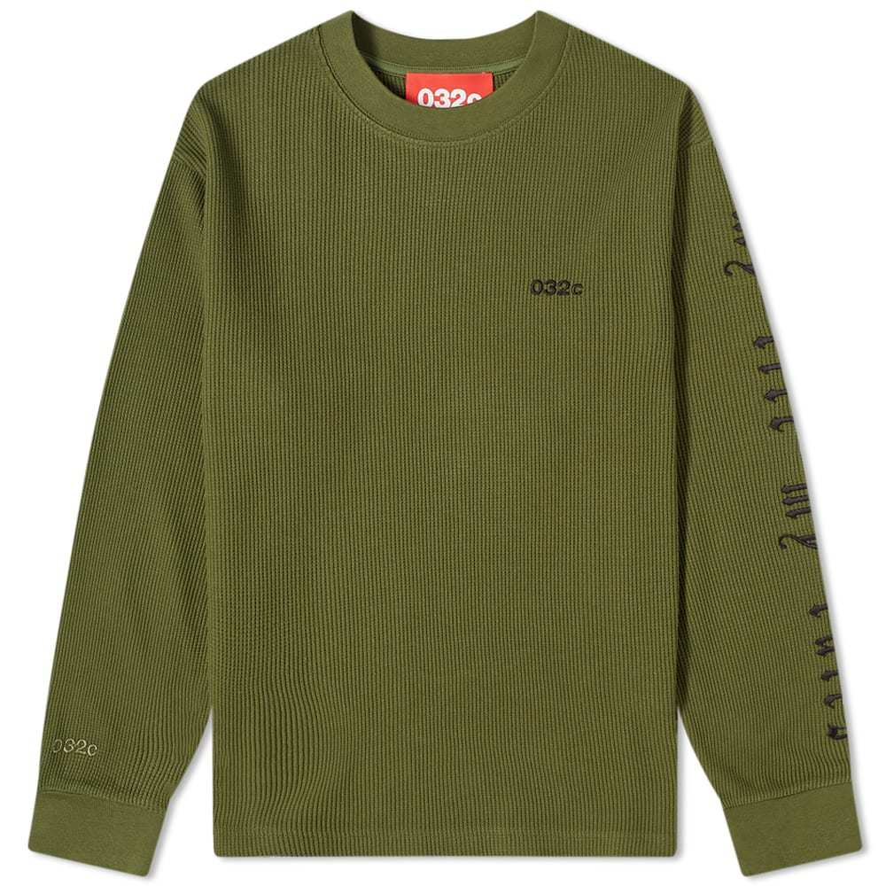 032c Long Sleeve Arm Embroidered Tee