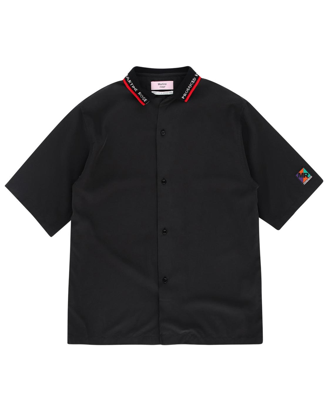 Martine Rose Rib Collar Shirt Black