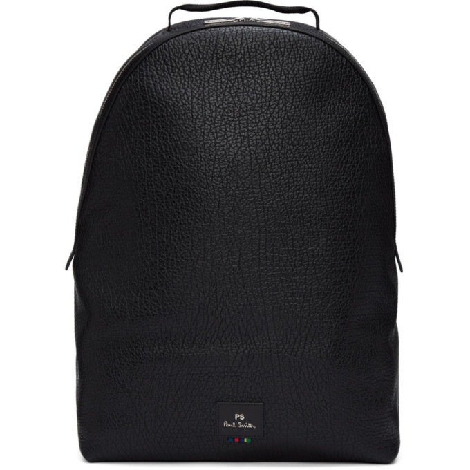 Photo: PS by Paul Smith Black Grained Leather Backpack