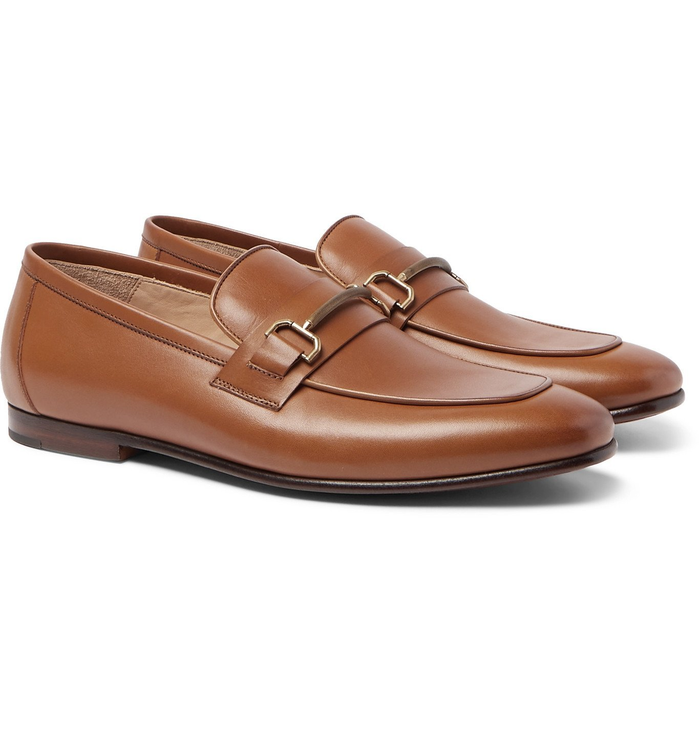 Photo: DUNHILL - Chiltern Leather Loafers - Brown