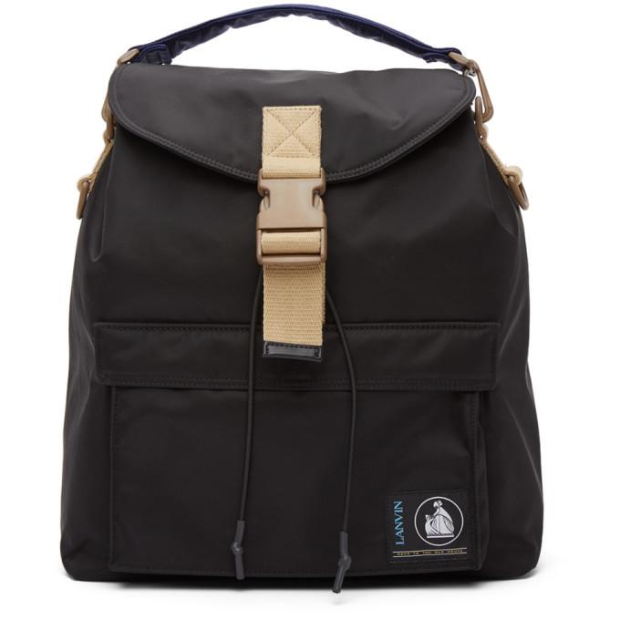 Photo: Lanvin Black Duvet Backpack