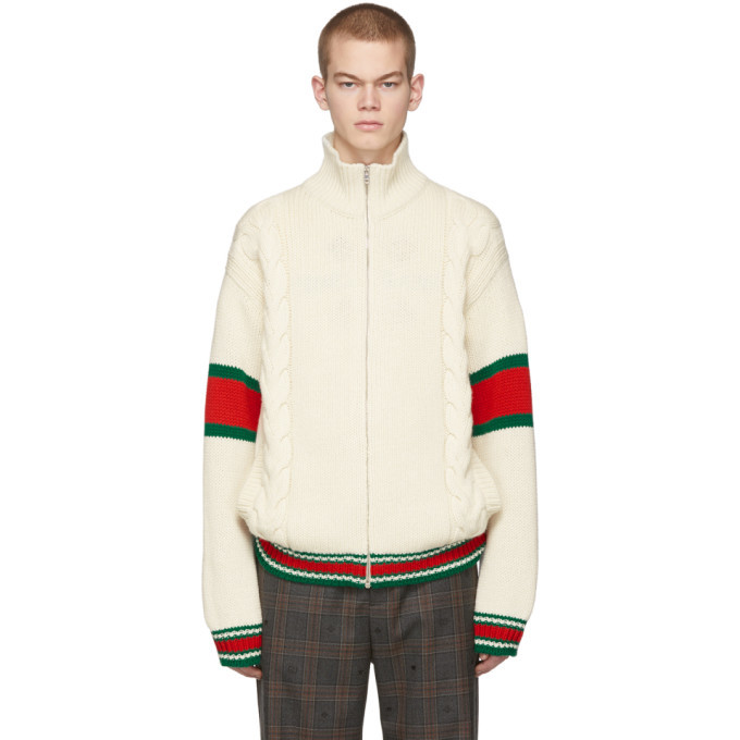 Photo: Gucci Off-White Cable Knit Jacket
