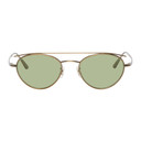 Oliver Peoples The Row Gold and Green Hightree Sunglasses