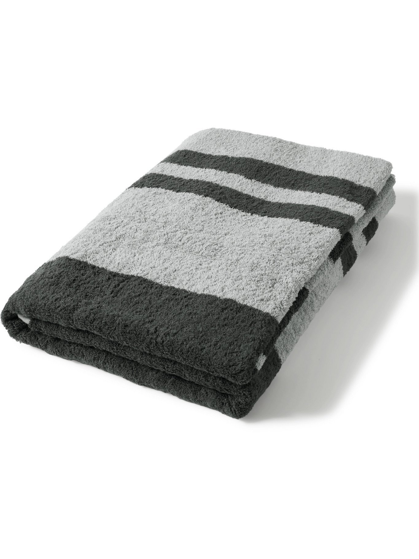Photo: JAMES PERSE - Striped Cotton-Terry Beach Towel