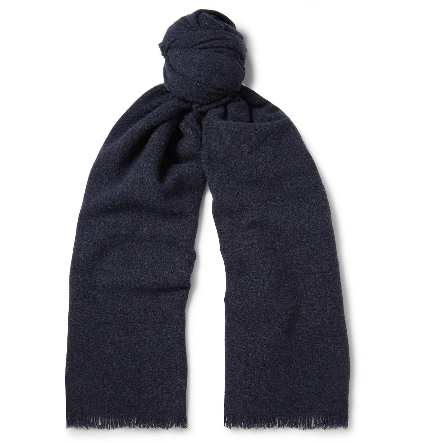 Photo: Begg & Co - Beaufort Wool and Cashmere-Blend Scarf - Blue