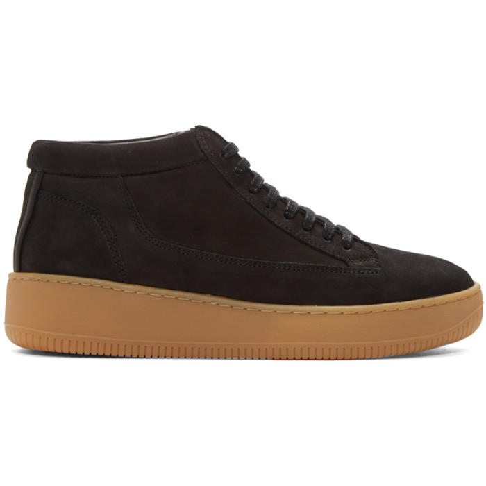 Photo: ETQ Amsterdam SSENSE Exclusive Black Suede Mid 1 Sneaker