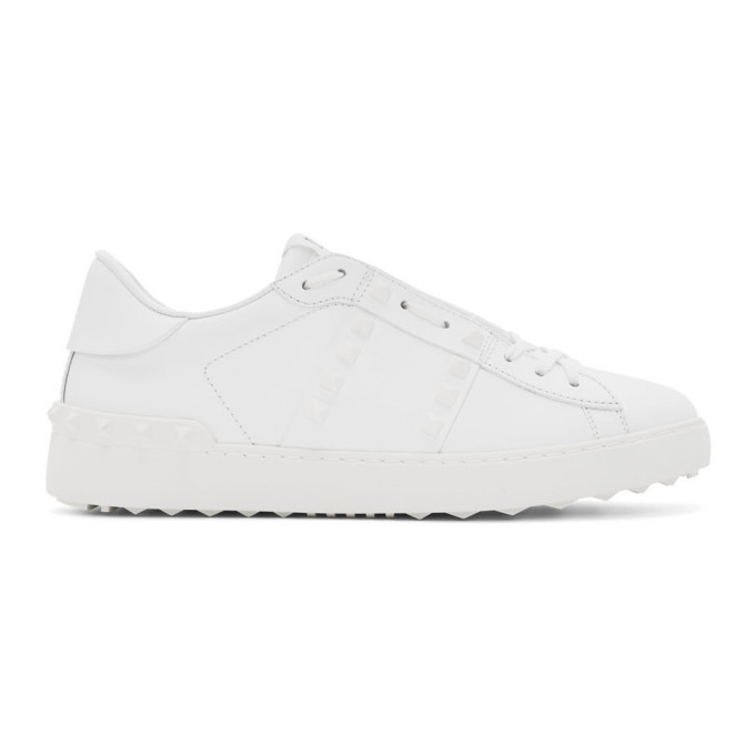 Photo: Valentino White Valentino Garavani Rockstud Untitled Sneakers