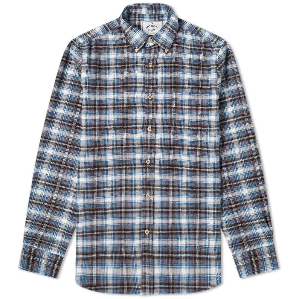 Photo: Portuguese Flannel Box Button Down Check Shirt