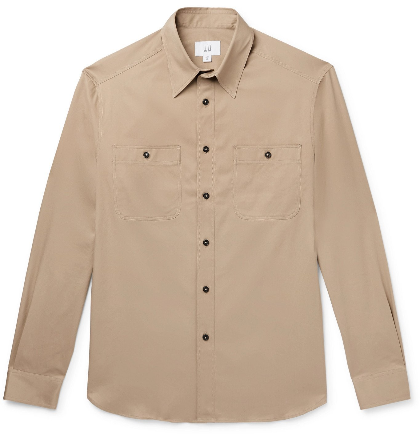 Dunhill - Cotton-Twill Shirt - Brown