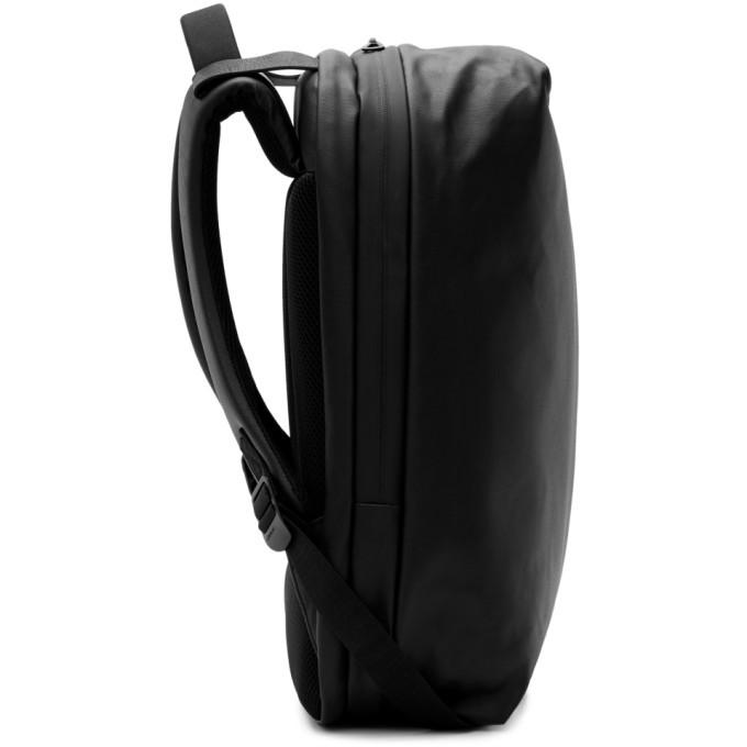 d56279bd8 Cote and Ciel Black Coated Canvas Sormonne Backpack