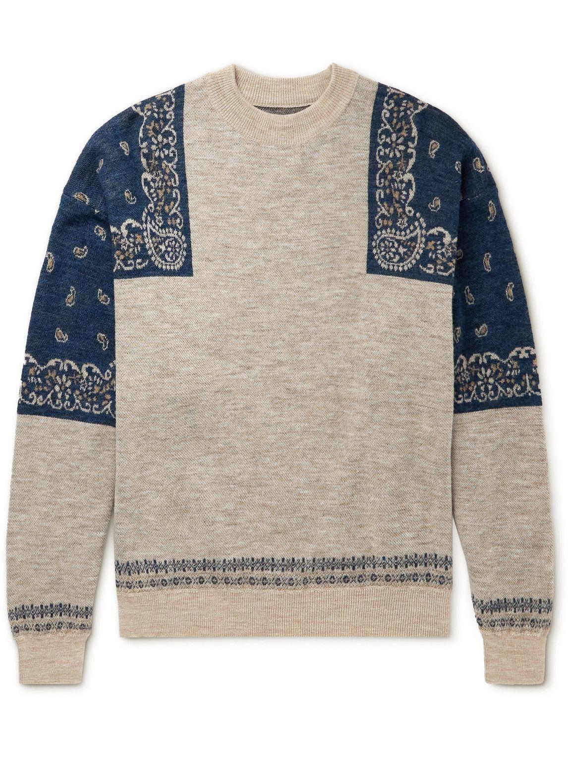 Photo: KAPITAL - Wool-Jacquard Sweater - Neutrals